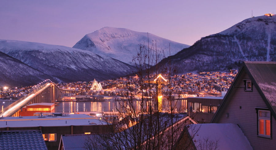 Winter daylight in Tromsø - picture from WikiTravel