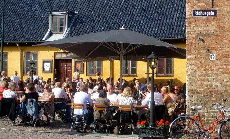 Christiania Oslo Norway Christiania Torv Oslo on a