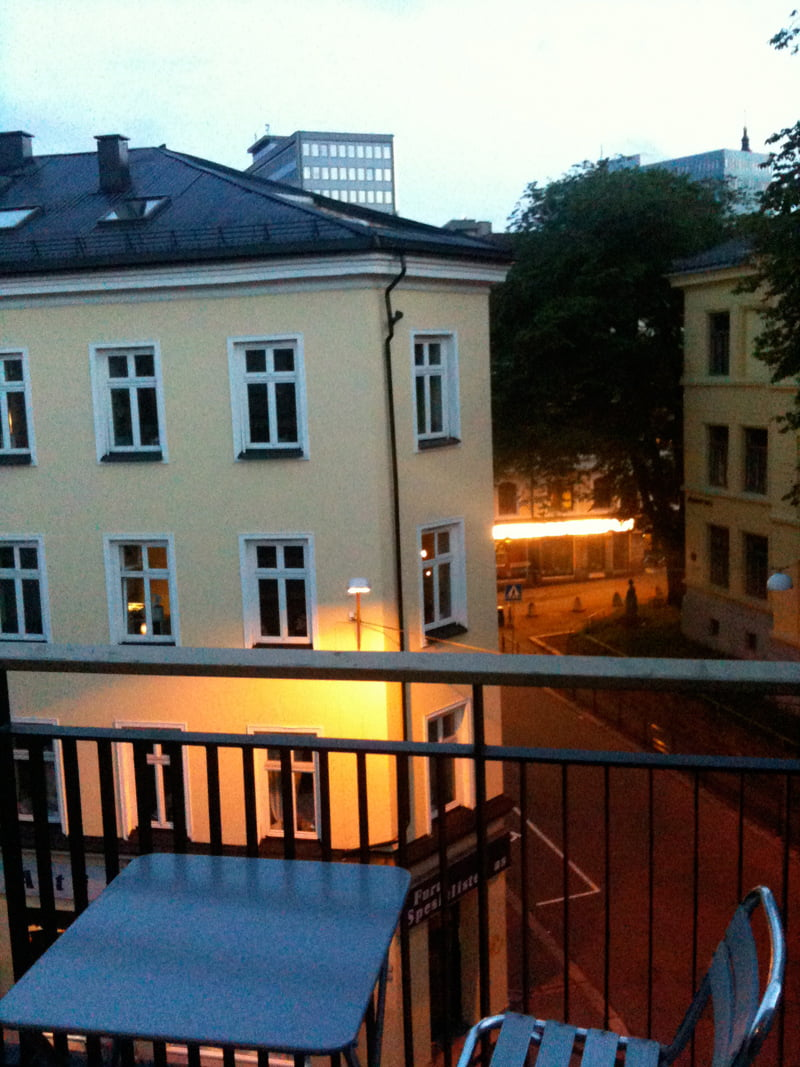 View from my Oslo balcony on Midsummer's Night