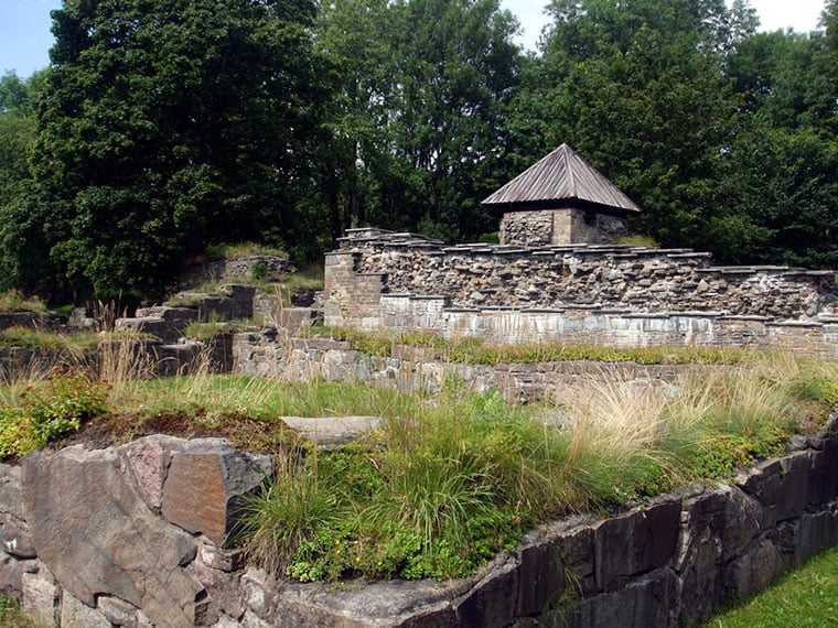 Ruins of the medieval Hovedøya Abbey near Oslo