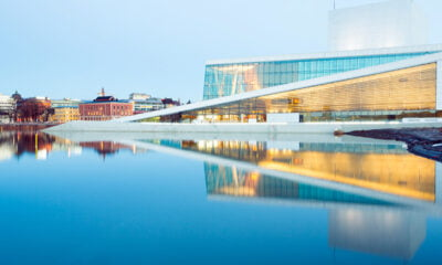 Reflections from Oslo Opera House