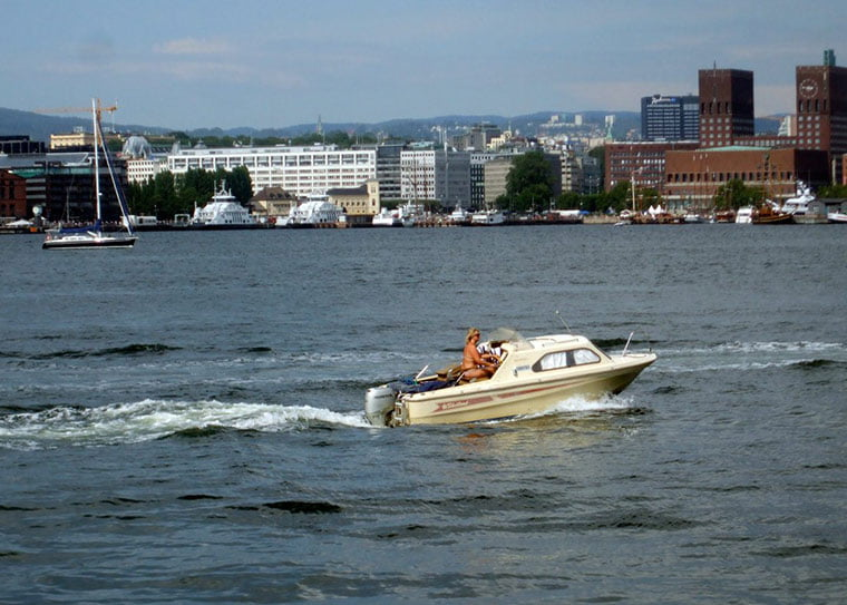 A view of Oslo's waterfront in the summer