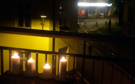 Candlelit tribute to the fallen, Oslo