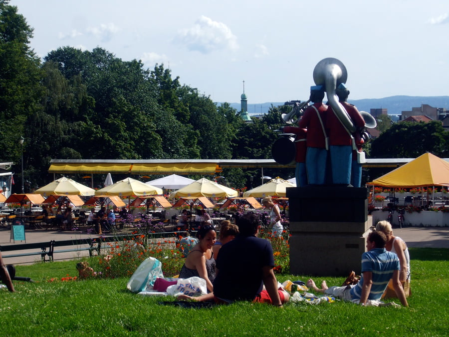 St Hanshaugen Park in the summer