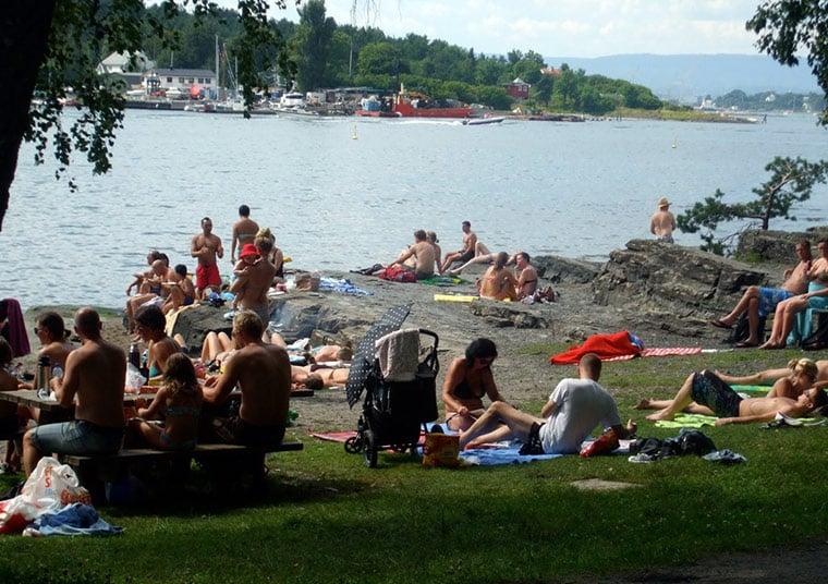 Sunny Hovedøya island