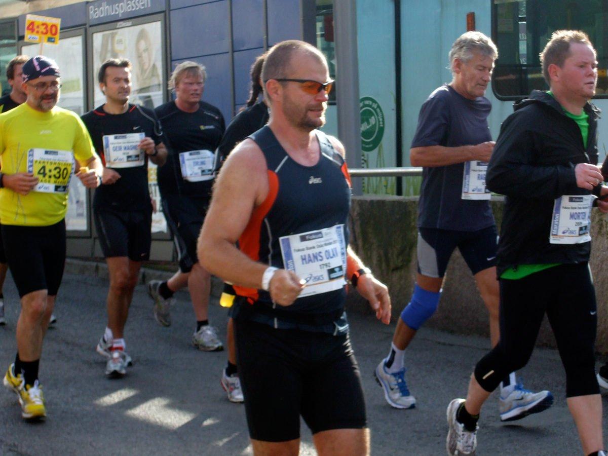 Participants in the Oslo Marathon 2011