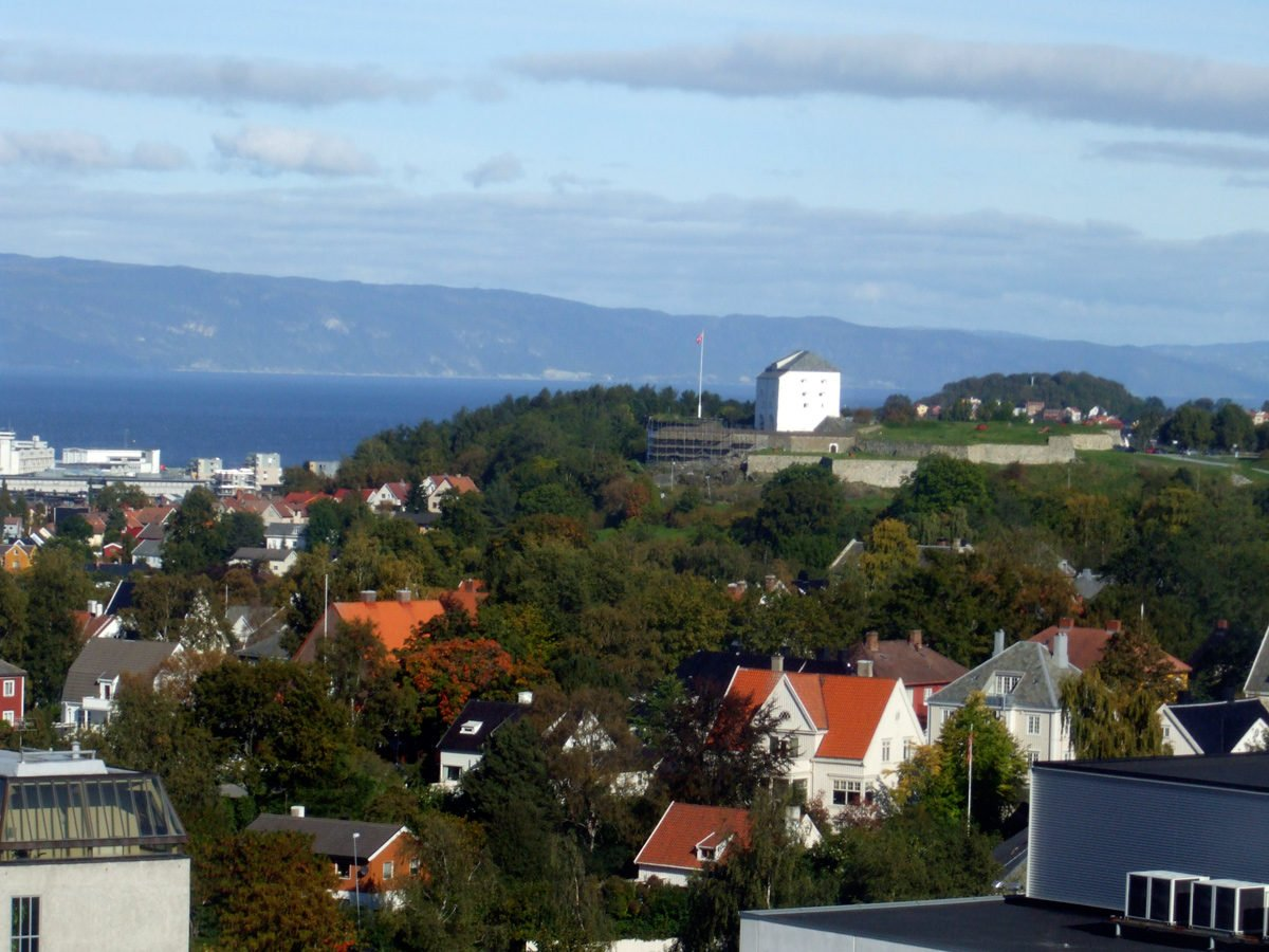 View of Trondheim from NTNU