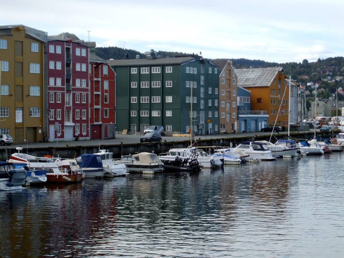 Beautiful Trondheim waterfront