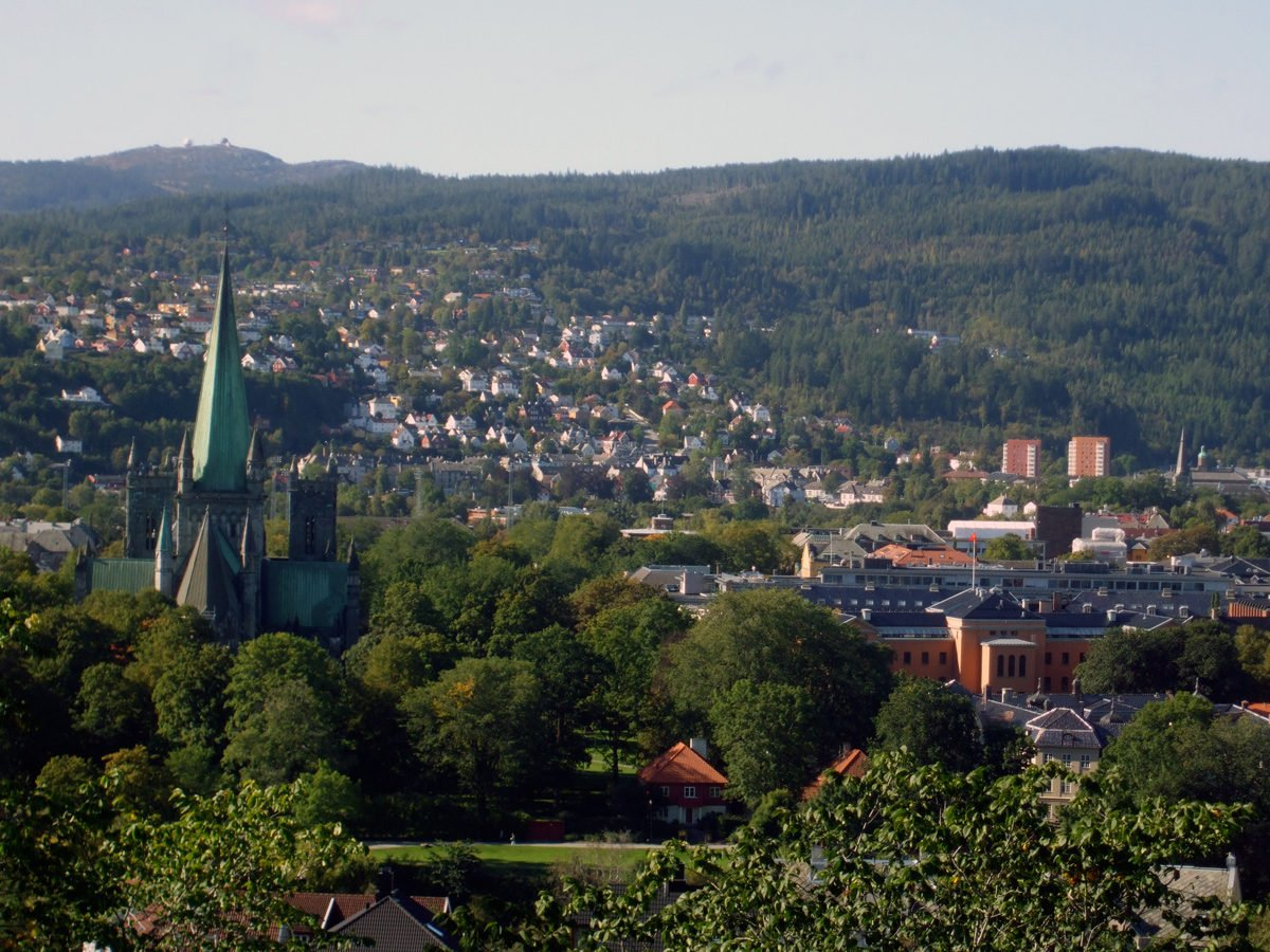 A view across Trondheim from the fortress