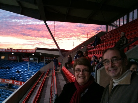 My mum & dad at the Ullevaal Stadium