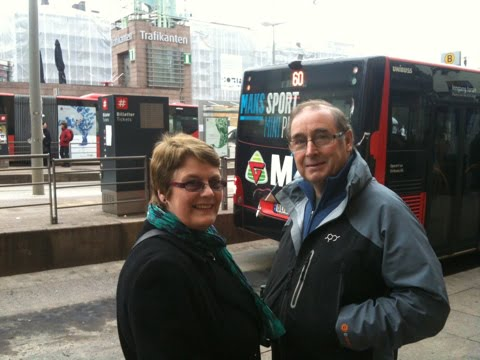Mum and Dad on Jernbanetorget, Oslo