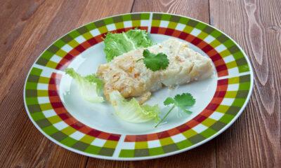 Plate of Norwegian lutefisk