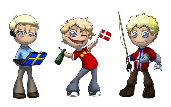 The first Scandinavia Against The World comic