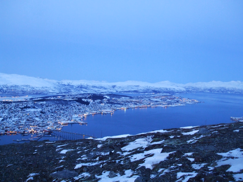 Tromsø glistening in the winter light