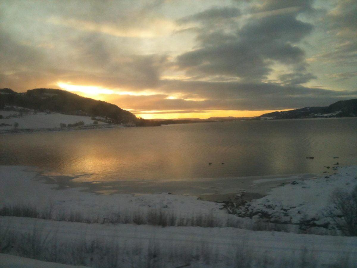 Sunrise over Lake Mjøsa, Norway