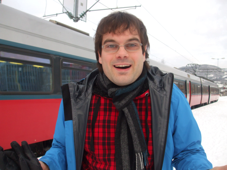 Me getting cold in Lillehammer