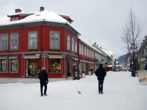 Storgata on Lillehammer