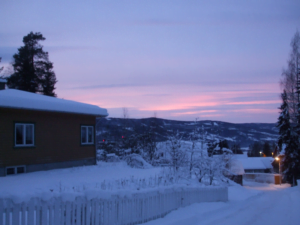 Sunset over Lillehammer from Maihaugen