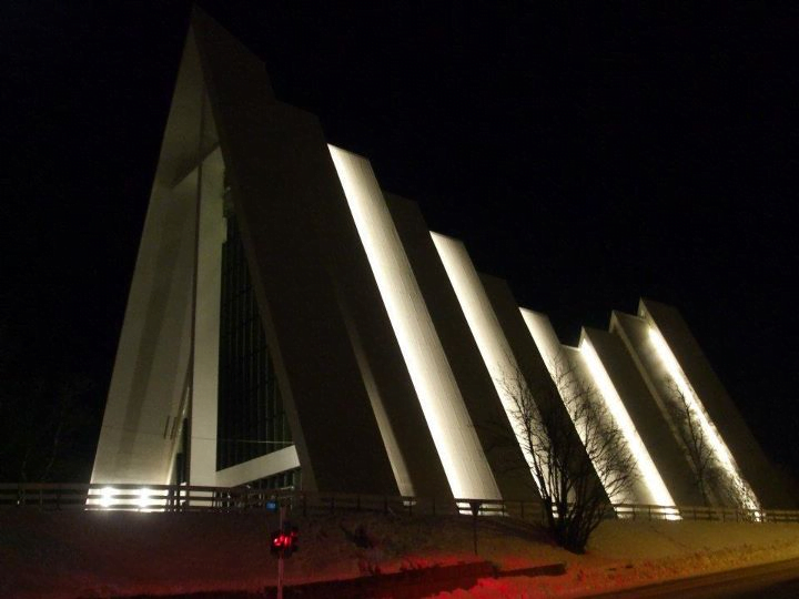 Tromsdalen Church at Night