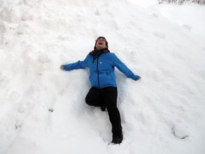 Me messing about in the Lillehammer snow!