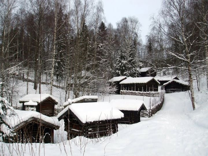 Open-air exhibits at Maihaugen, Lillehammer