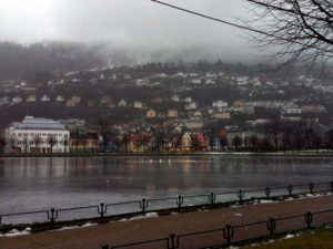 A view from Bergen city centre