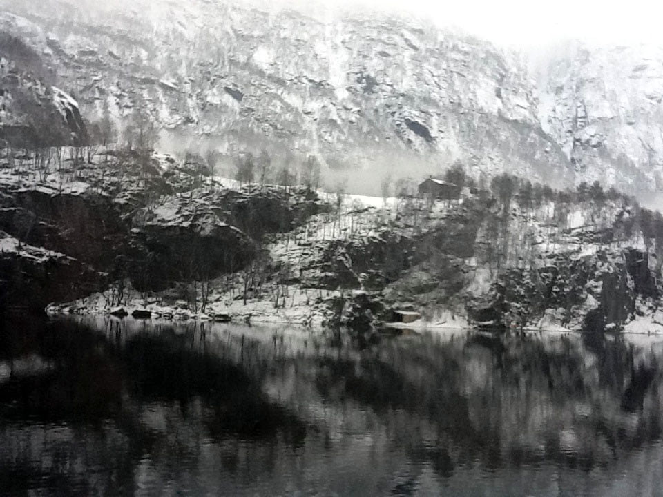Spectacular view approaching Bergen on the train