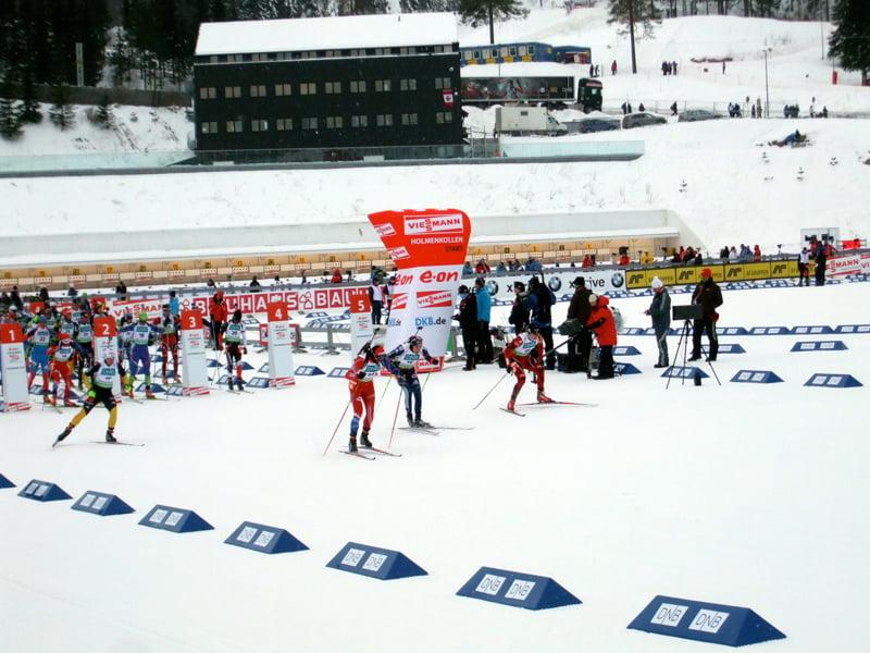 Start of the Biathlon Mens Pursuit
