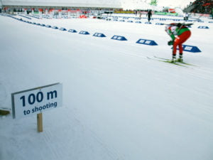 Biathlon race at Oslo