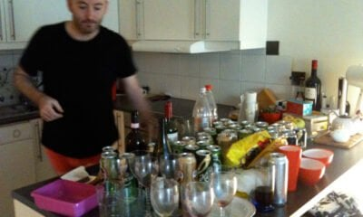Brian surveying the empties