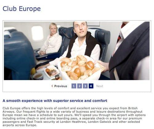 Club Europe British Airways promotion