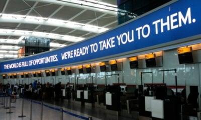 Heathrow T5 British Airways banner