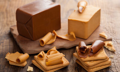 Blocks of brunost, Norwegian brown cheese