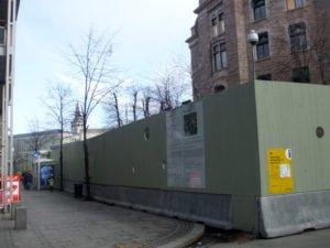 Oslo Government Quarter construction site