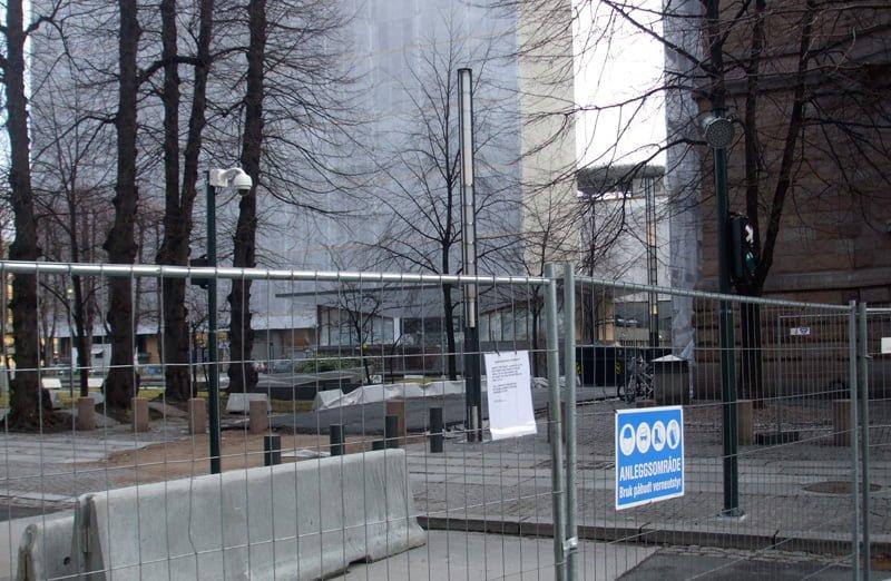 Rebuilding work in Oslo