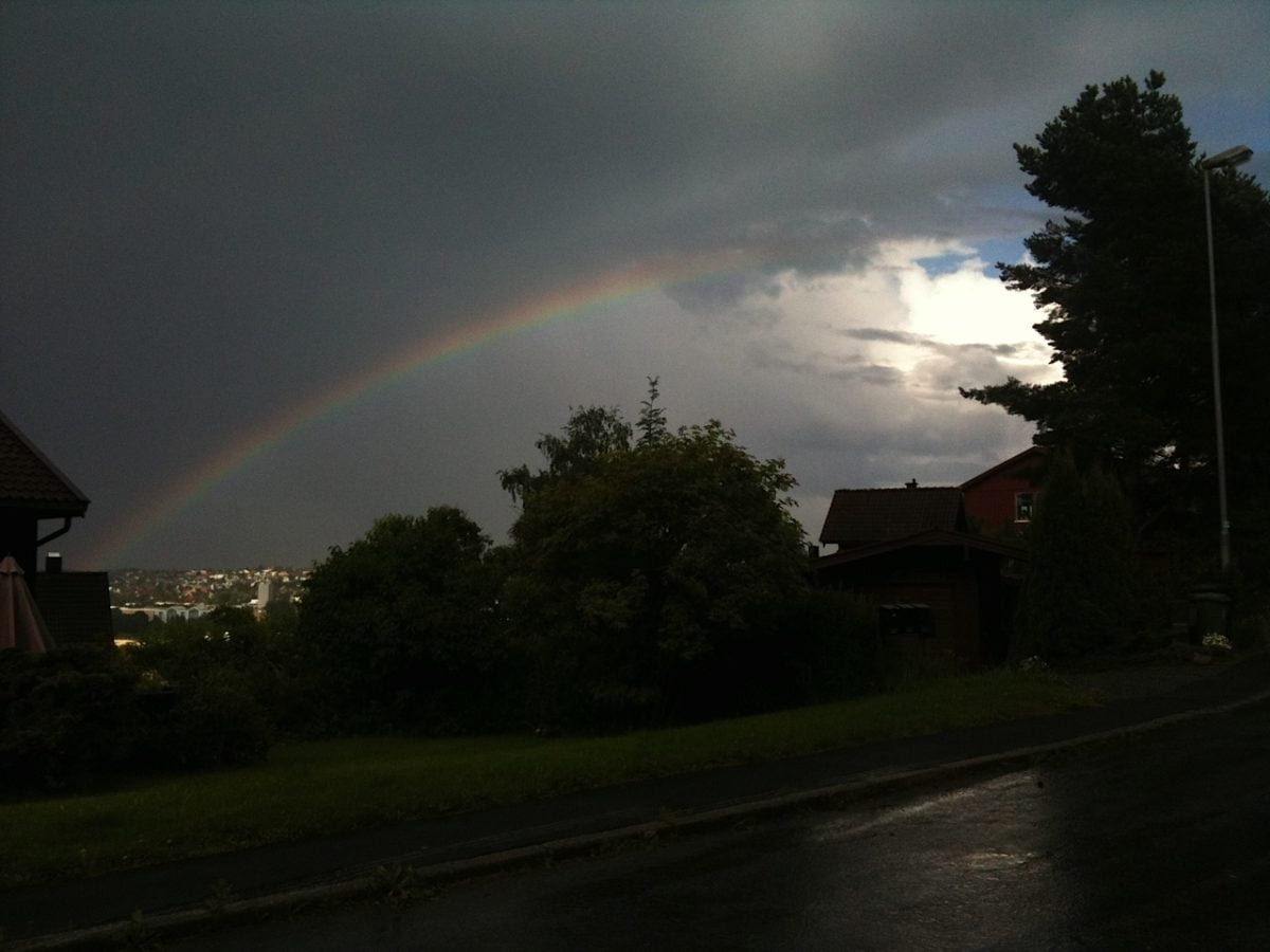Rainbow over Trondheim
