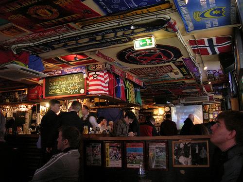 Interior of Bohemen Sports Bar in Oslo