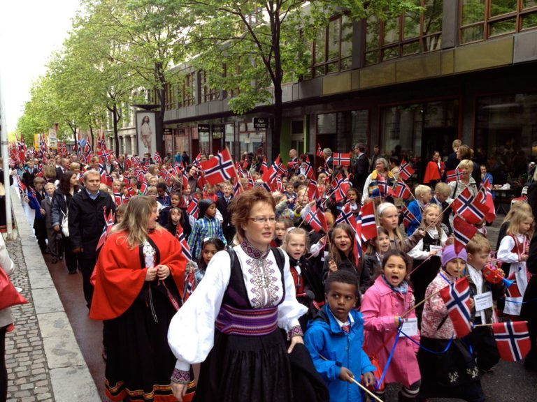 National Day parade in Oslo