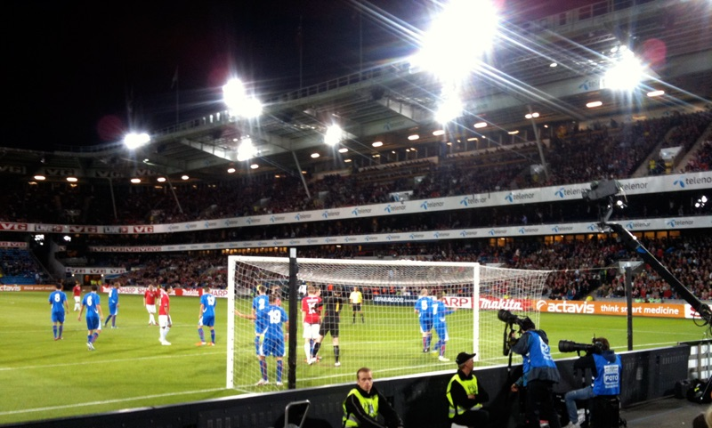 Norway football match at the Ullevaal Stadium in Oslo
