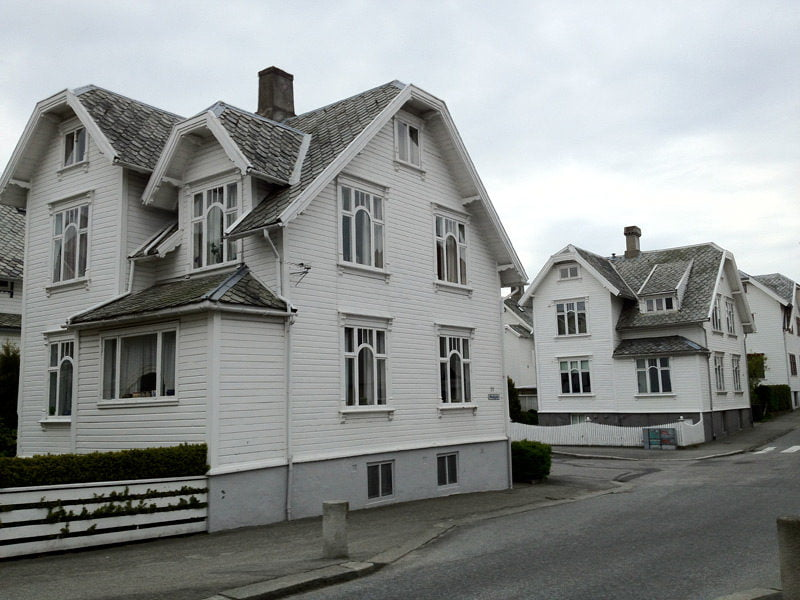 Wooden houses in Stavanger