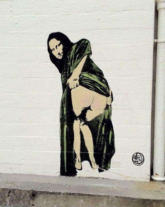 Mooning Mona Lisa in Stavanger