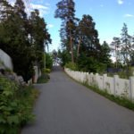 A street in the Oslo hills