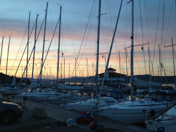 Sunset from Drammen Sailing Club