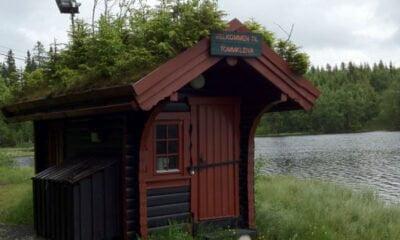 Wooden hut near Tryvann in Nordmarka