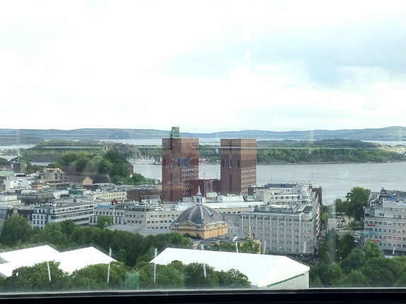 View from Sky Bar in Radisson Blu Scandinavia Oslo