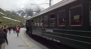Flåmbana train at Myrdal station