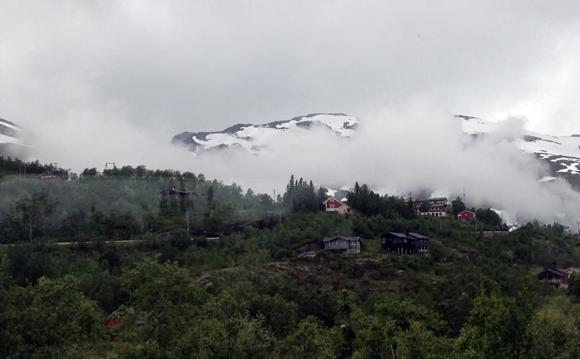 Top of the Flåm valley