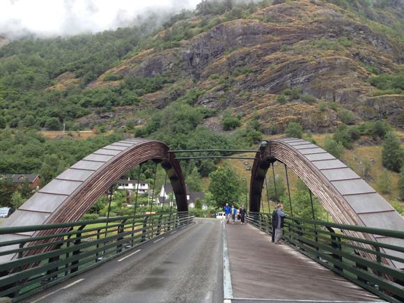 The main bridge in Flåm bridge