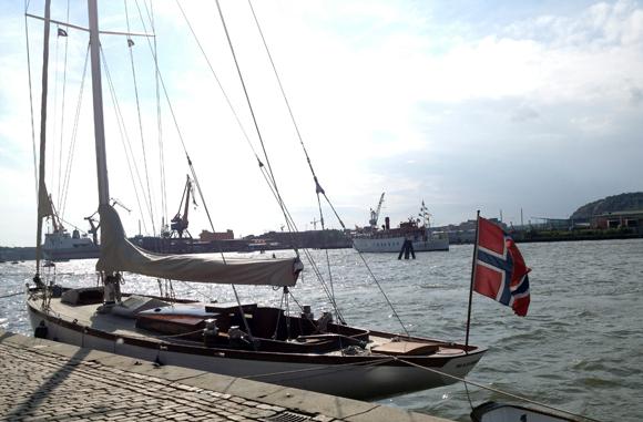 A Norwegian boat in Gothenburg