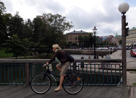 Cyclist in Gothenburg